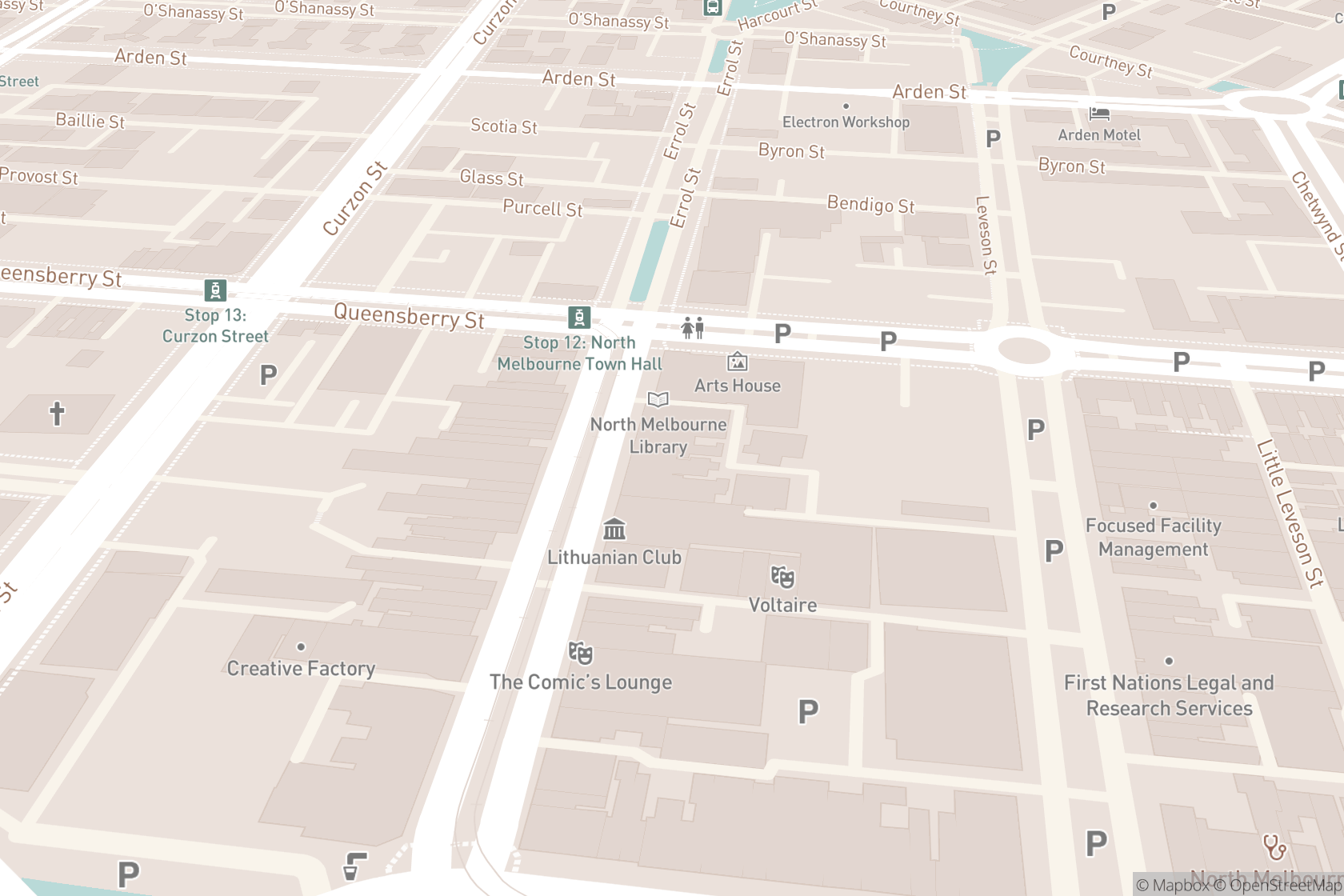 Errol Street Spinal and Sports Physiotherapy map location