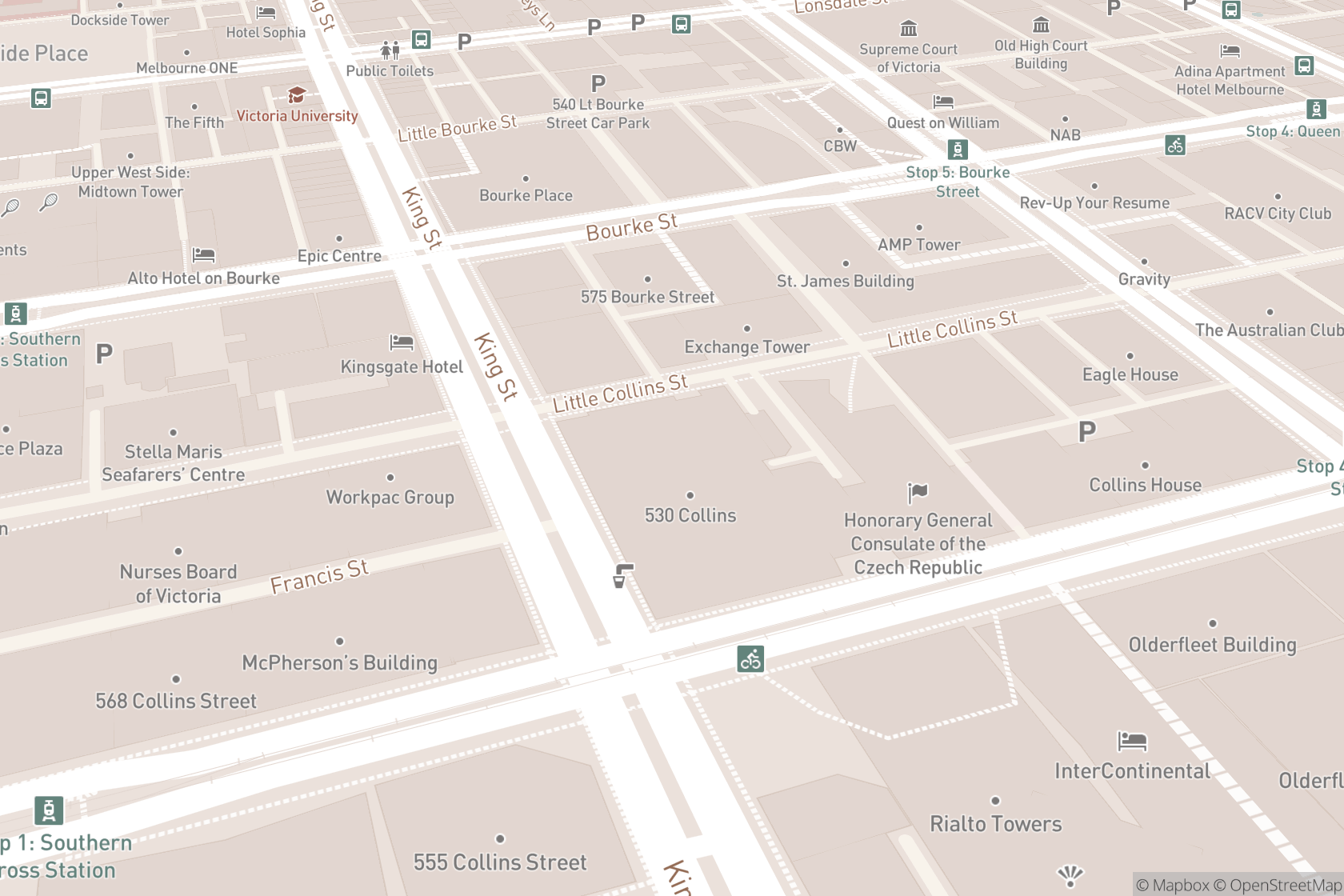Clearskincare Clinics - Collins Street map location