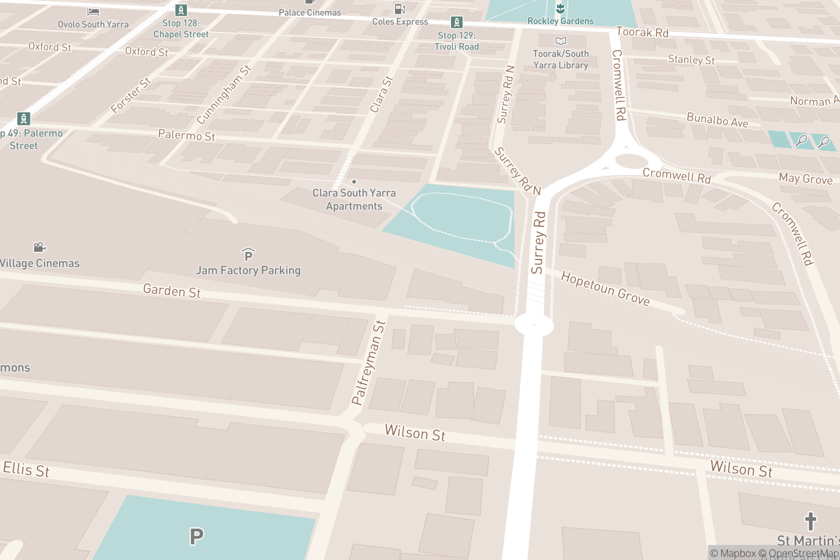 Osteopathic Movement South Yarra map location