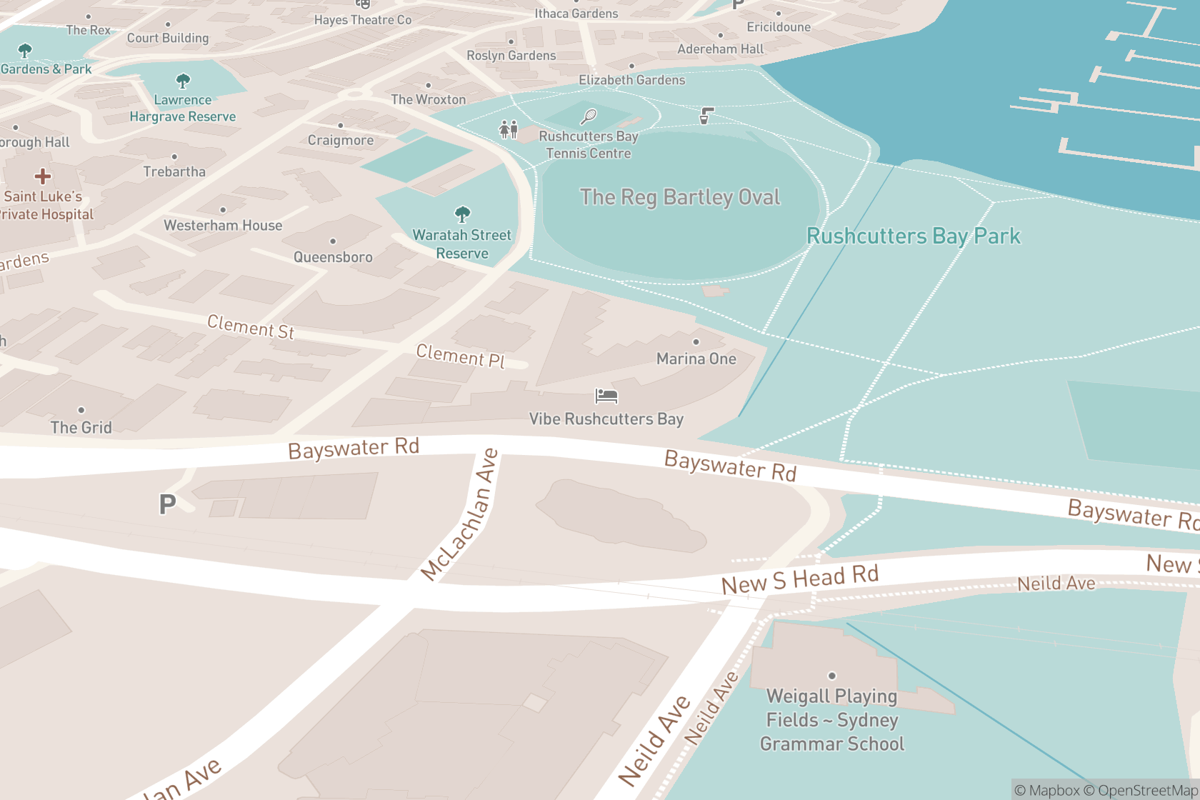 Rushcutters Health map location