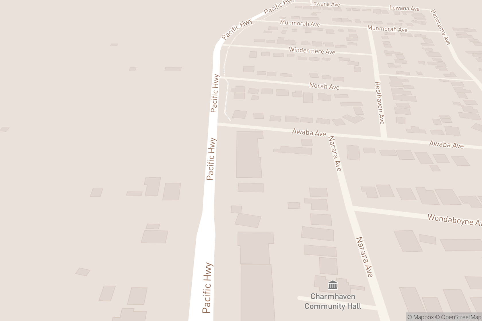 The Cut Off Point map location