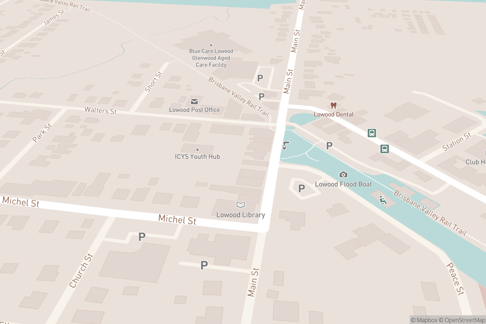 Lowood Natural Therapies map location