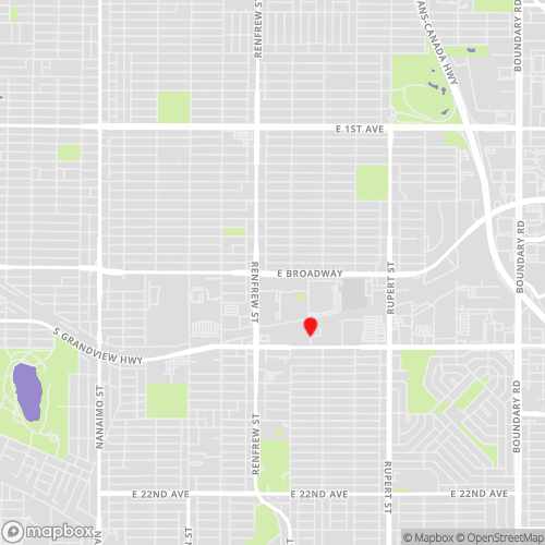 East Van Grandview Locations Map for CBL Data Recovery Drop-off Services