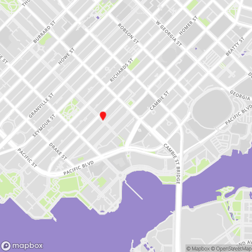 Yaletown Vancouver Locations Map for CBL Data Recovery Drop-off Services