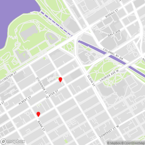 Downtown Ottawa Locations Map for CBL Data Recovery
