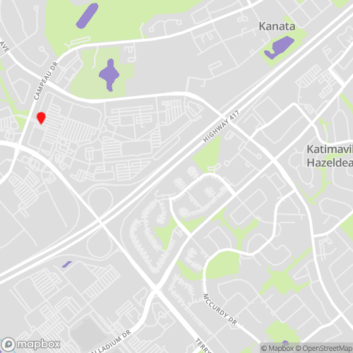 Kanata Locations Map for CBL Data Recovery Drop-off Services