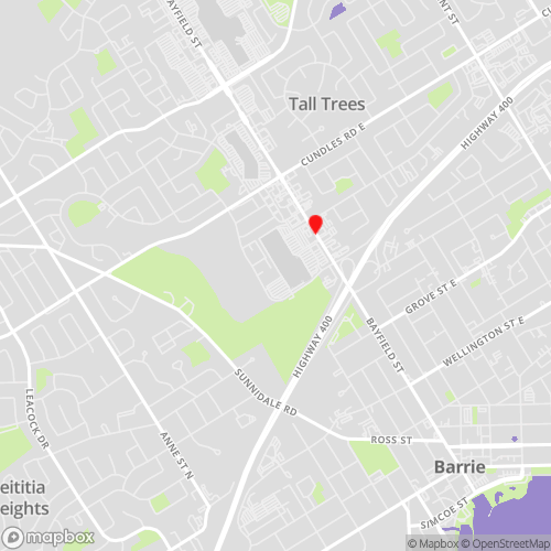 Locations Map for Barrie Data Recovery Drop-off Services