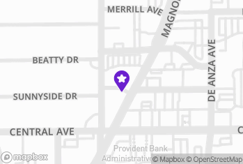 Map and Directions to Alin Party Supply Riverside