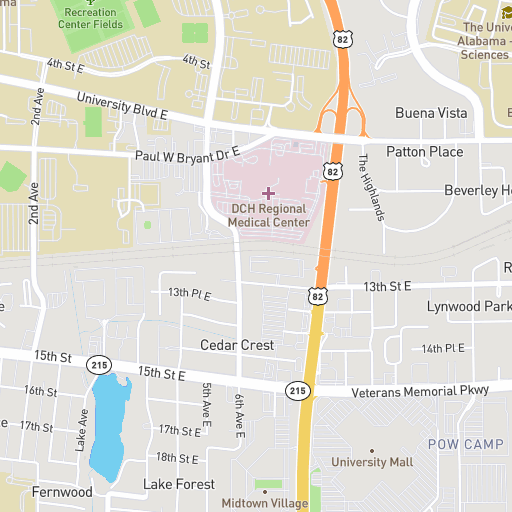 Map - University of Alabama