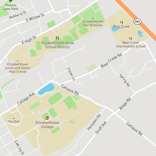 Susquehanna Campus Map.Elizabethtown College Interactive Campus Map