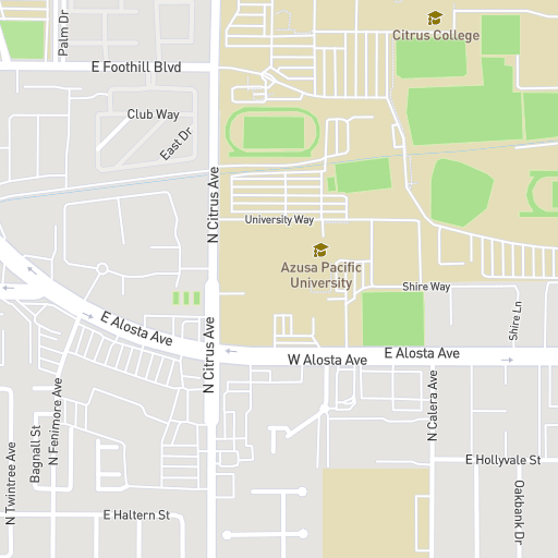Online Map - Azusa Pacific University on