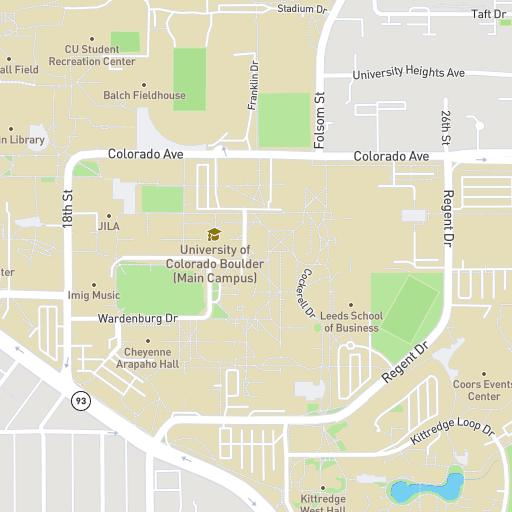 Colorado Boulder Campus Map.Campus Map University Of Colorado Boulder