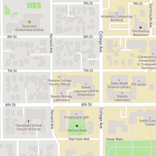 St Rose Campus Map.Campus Map Pomona College
