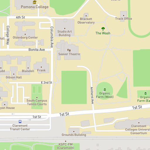 Campus Map Pomona College