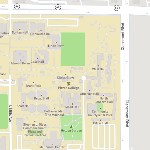 Campus Map Harvey Mudd College