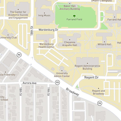Athens Campus Map.Campus Map University Of Colorado Boulder