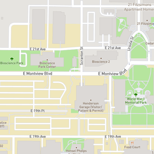 University Of Colorado Denver Campus Map.University Of Colorado Anschutz Medical Campus