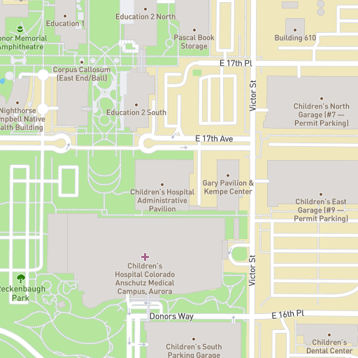 Amc Campus Map.University Of Colorado Anschutz Medical Campus