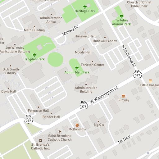 Tarleton State Map.Tarleton State University