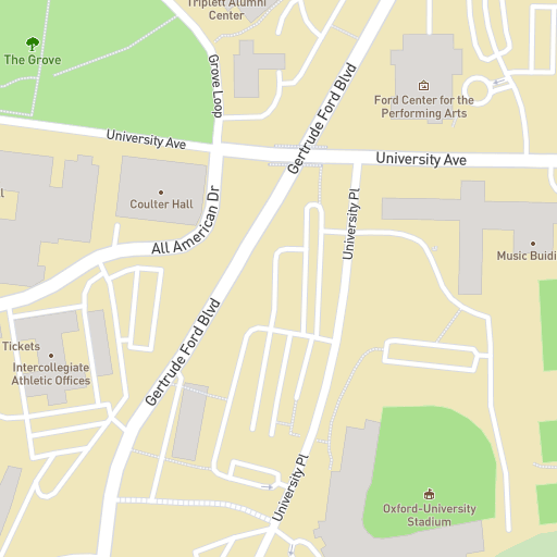 Map Of Ole Miss Campus University of Mississippi