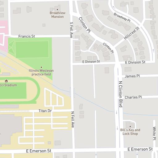 Illinois Wesleyan Campus Map