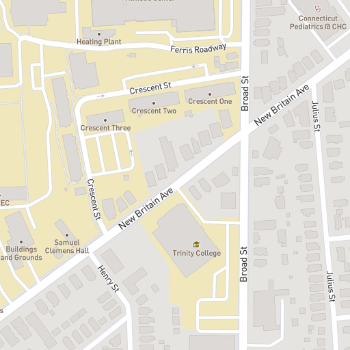 Jackson College Campus Map.Trinity College Campus Map