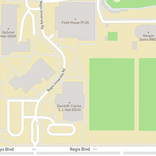 Loyola Spain Map.Regis University Virtual Tour Campus Map Search For Locations