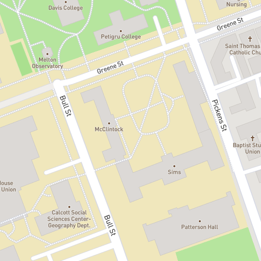 St Johns Campus Map.Campus Map University Of South Carolina