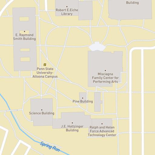 Map Penn State Altoona