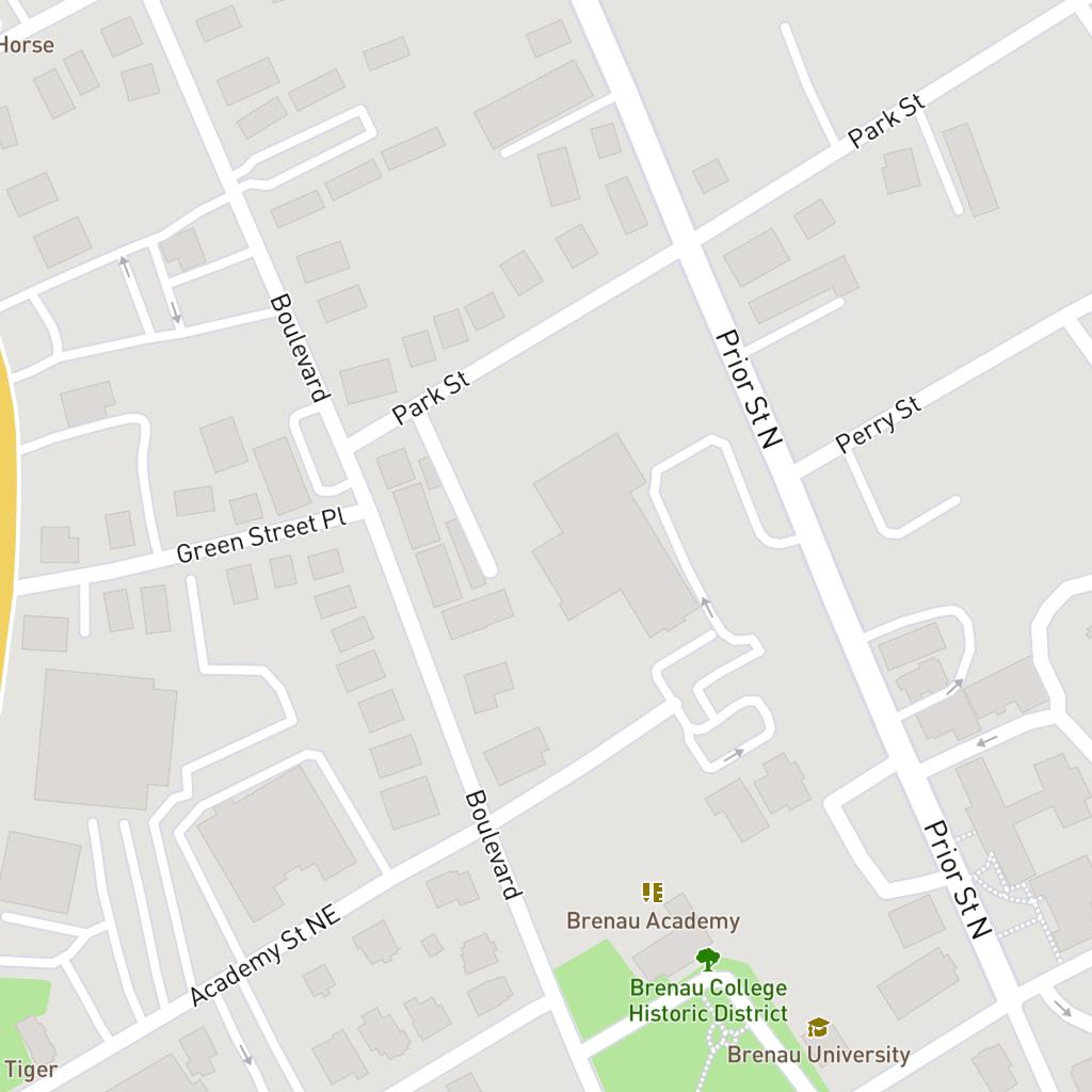 Map Brenau University