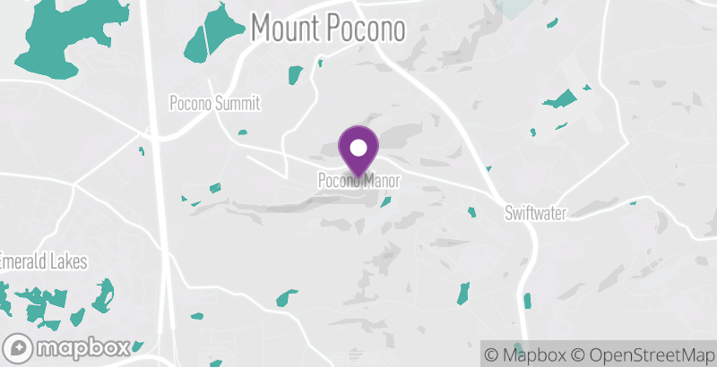Map of Pocono Outdoor Adventure Tours