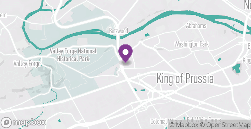Map of Valley Forge Casino