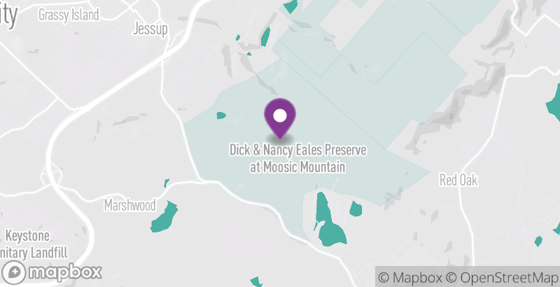 Map of Dick & Nancy Eales Nature Preserve at Moosic Mountain