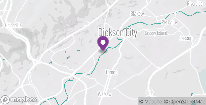 Map of Dickson City Laser Tag