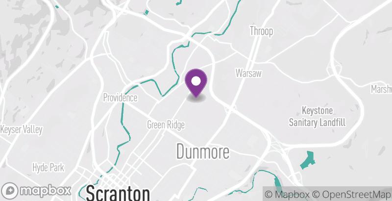 Map of BikeScranton- Marywood University Library