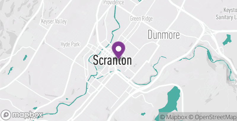 Map of Performance Music at The University of Scranton