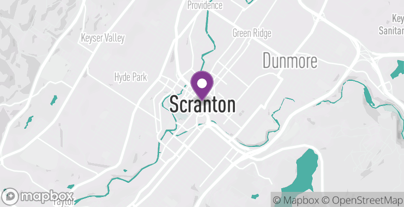 Map of Scranton Fringe Festival