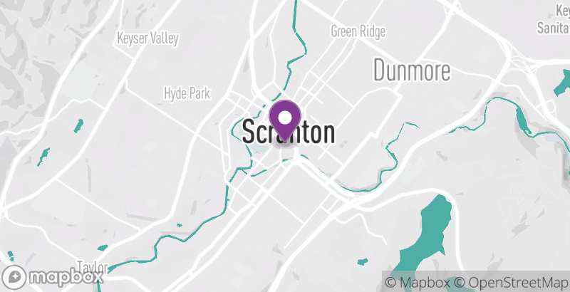Map of Hilton Scranton & Conference Center