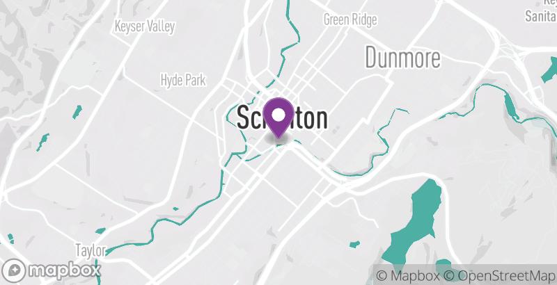 Map of Scranton Iron Furnaces