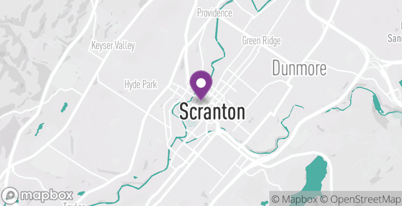 Map of First Friday Scranton