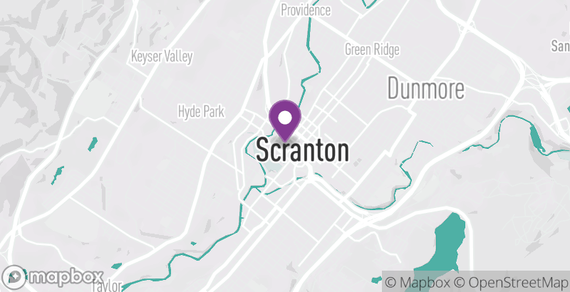 Map of Scranton St. Patrick's Parade