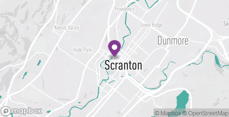 Map of Scranton Civic Ballet Company