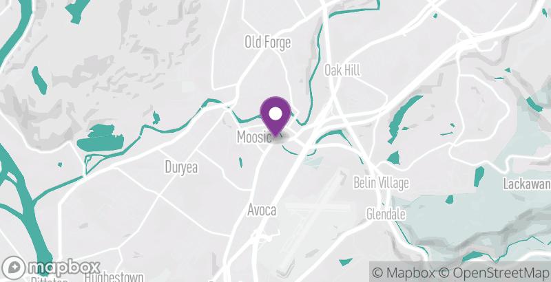 Map of Wilkes-Barre/Scranton Roller Radicals