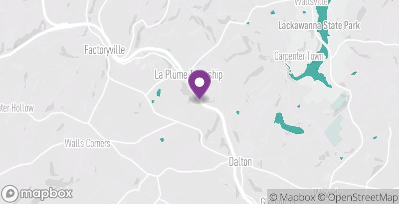 Map of Trolley Trail – La Plume to Dalton