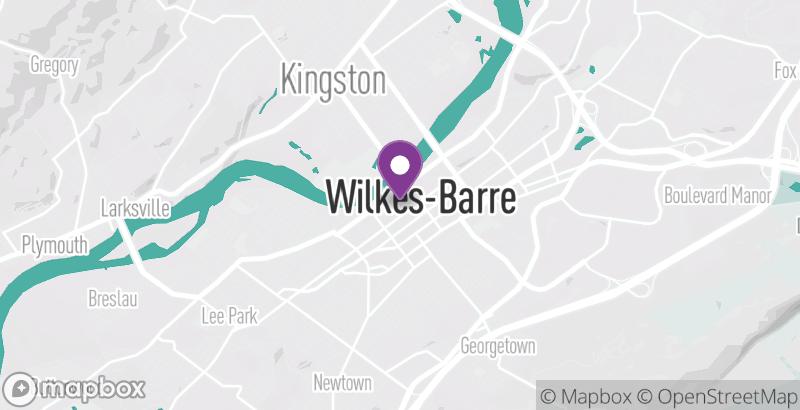 Map of Alexander's Spa & Salon – Wilkes-Barre