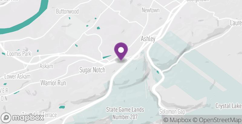 Map of Sugar Notch Ridgetop Trail