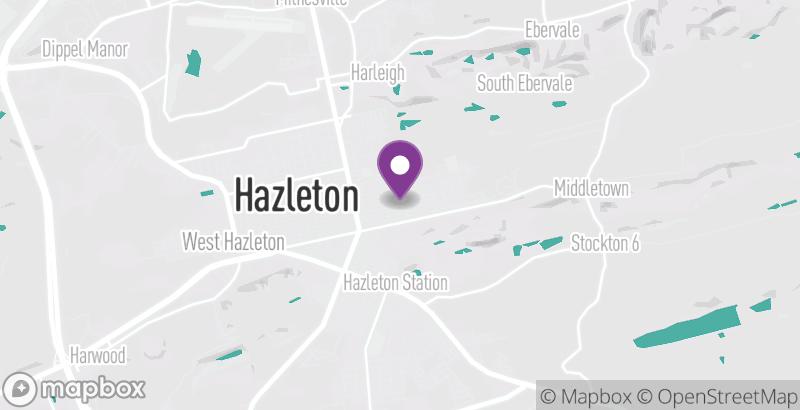 Map of Hazleton One Community Center