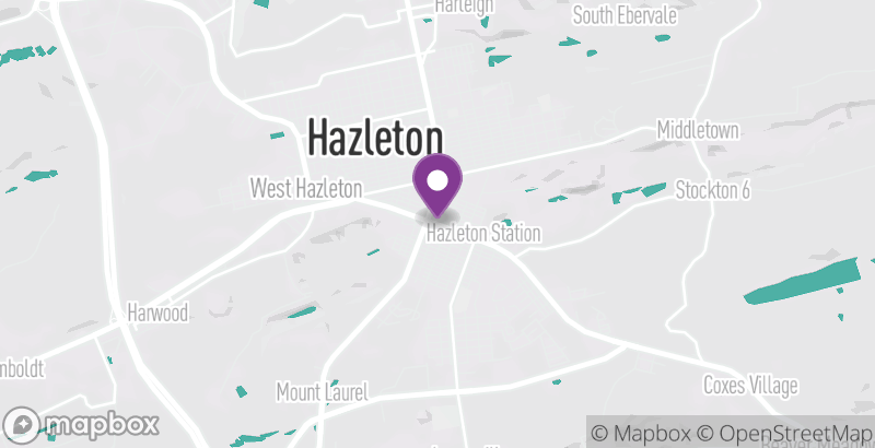 Map of Downtown Hazleton Farmers Market