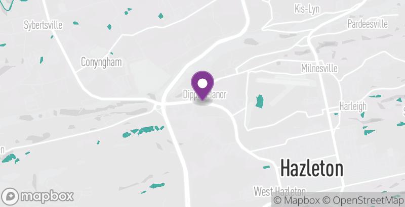 Map of Downtown Hazleton Farmers Market