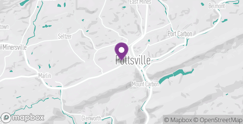 Map of City of Pottsville's New Year's Eve Celebration